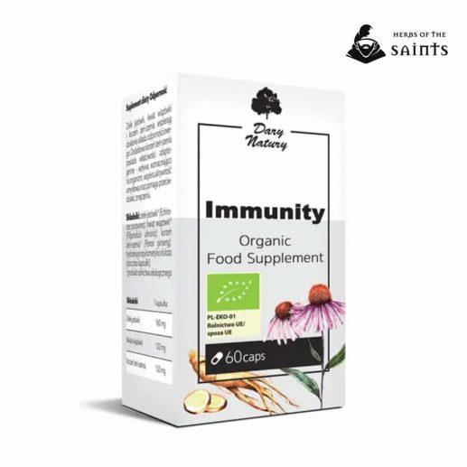 Immune System 60 Capsules - Dietary Organic Herbal Supplements
