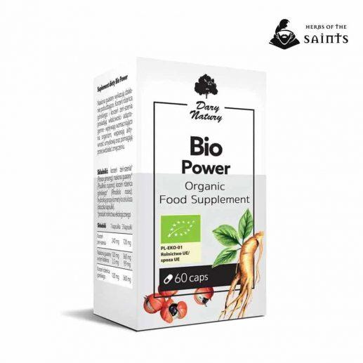 Bio Power 60 Capsules - Dietary Organic Herbal Supplement