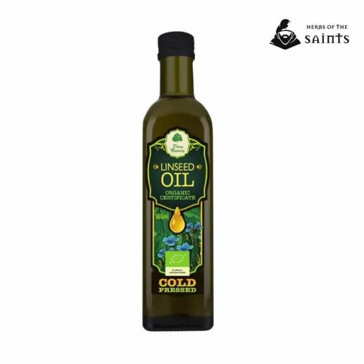 linseed oil 100 pure organic cold pressed certified 100ml logo
