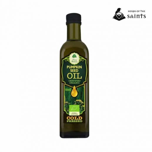 Pumpkin Seed Organic Oil, 100% Pure, Cold Pressed, Certified