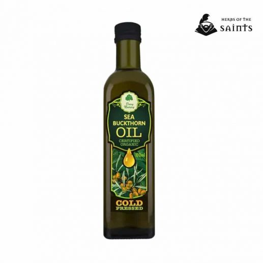 Sea Buckthorn Organic Oil, 100% Pure, Cold Pressed, Certified